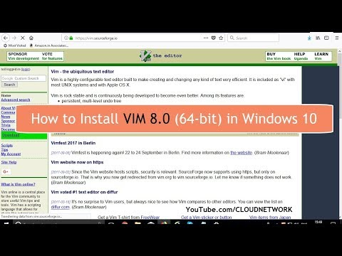 How to Download & Install Vim v8 0 (64-bit) in Windows 10