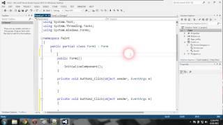 C# программа для рисования (часть 1)
