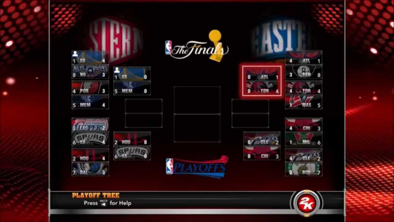 NBA 2k15 NBA Playoffs Simulation - YouTube