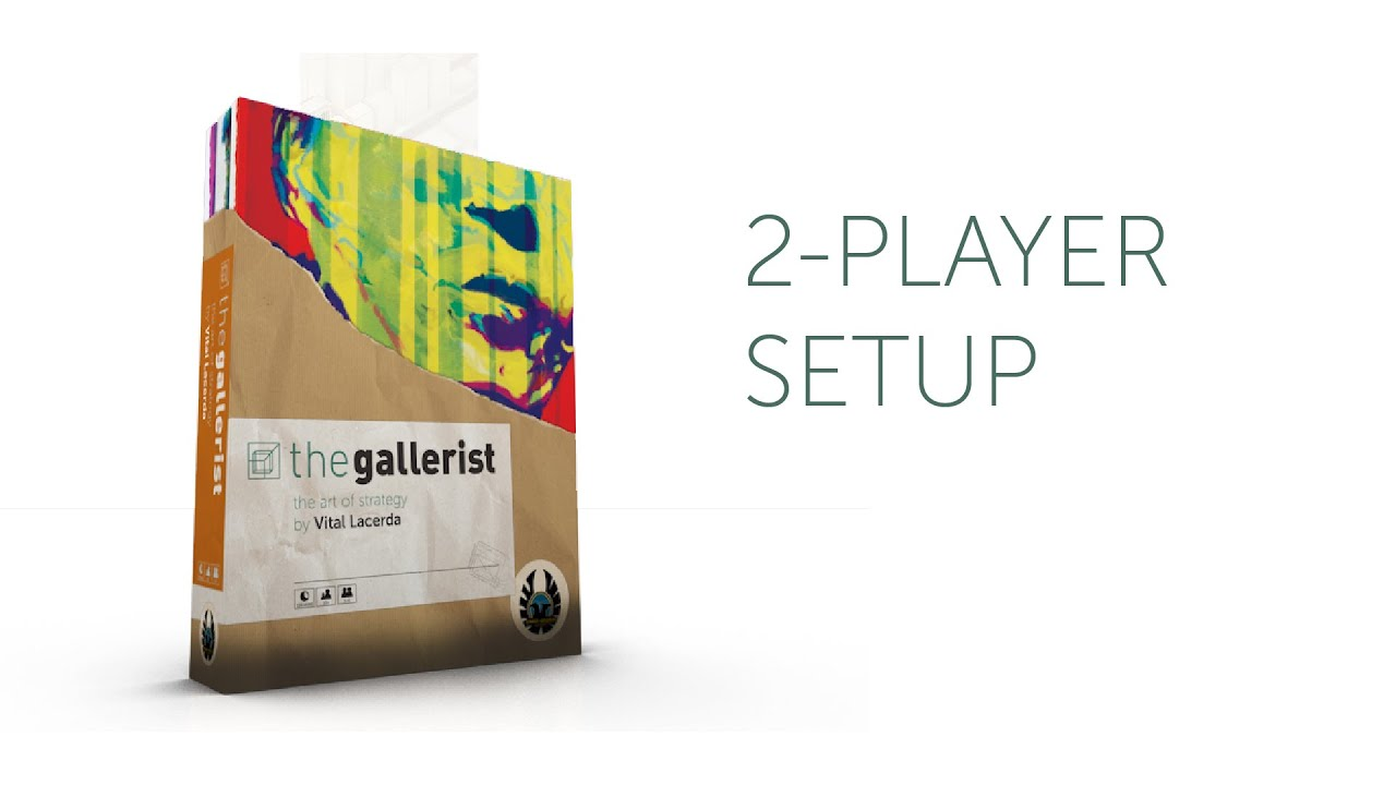 The Gallerist A Game By Vital Lacerda The Art Of: 2-player Setup Of The Gallerist