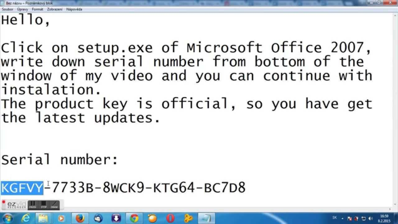 need product key for microsoft office 2007