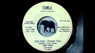 Gino Parks - For This I Thank You