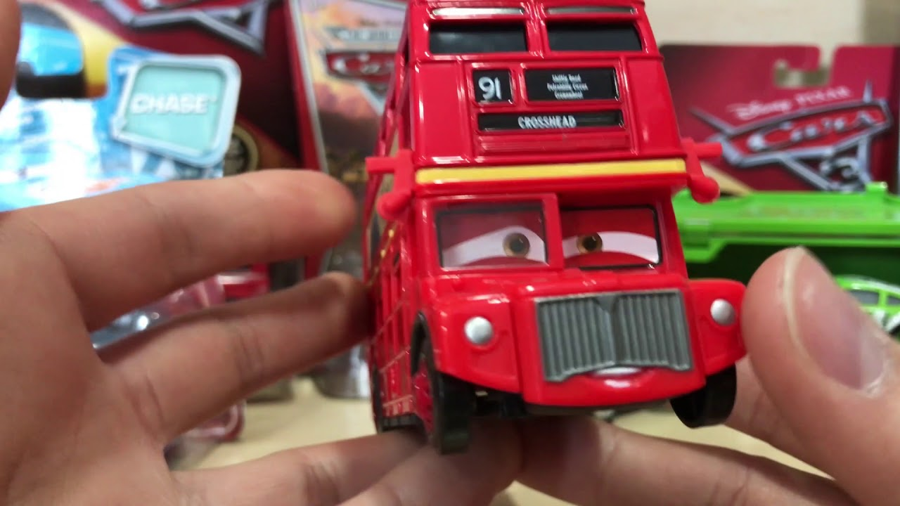 Disney/Pixar Cars 2 Double Decker Bus Review - YouTube