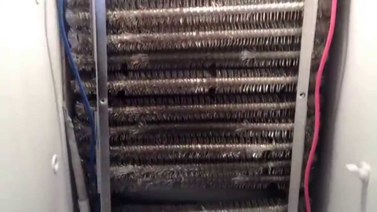 Refrigerator Evaporator Frost Pattern Youtube