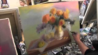 Желтые цветы в вазе , научиться рисовать цветы, розы маслом, Сахаров Игорь(ВСЕ НОВОЕ НА http://saharov.tv Официальные сайты: http://artsaharov.com http://faniyasaharova.com http://polinasaharova.com http://ladasaharova.com ..., 2014-12-16T18:28:39.000Z)