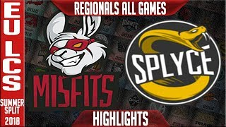 MSF vs SPY Highlights ALL GAMES | EU LCS Regional