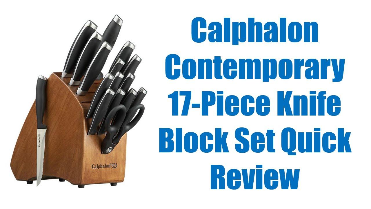 calphalon knife set quick review