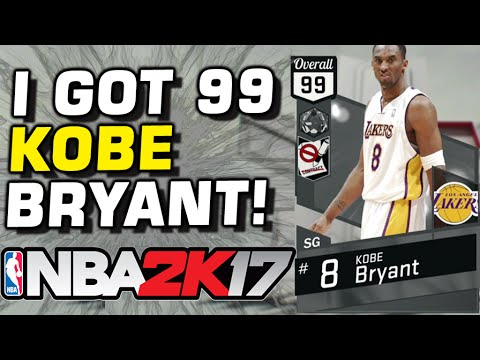 99 KOBE BRYANT NBA 2K17 DEBUT!
