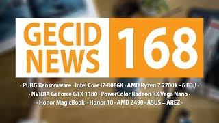 GECID News #168 ➜ юбилейный Intel Core i7-8086K ▪ бренд AREZ от ASUS