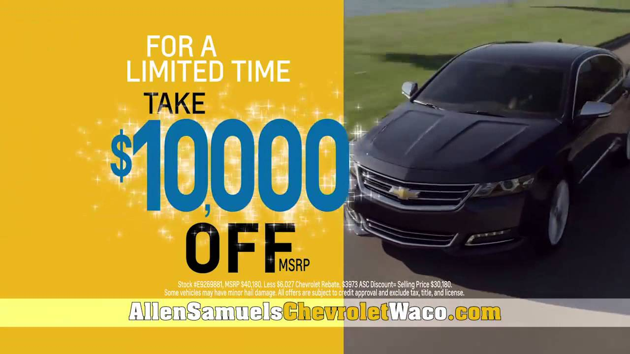 Captivating Spring Sale Is Happening Now At Allen Samuels Chevy Waco! $10k Off!