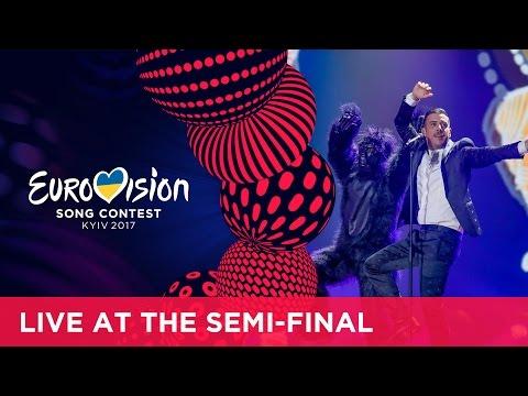 Francesco Gabbani - Occidentali's Karma (Italy) at the first Semi-Final