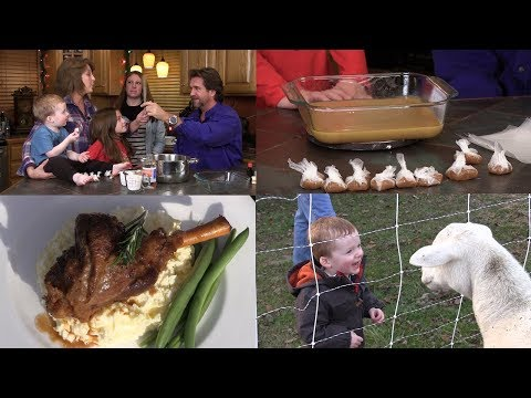 Dutch Oven Lamb Shank, Homemade Caramels, and Grandbabies Feeding the Animals (Episode #446)