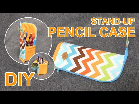 DIY Standing Pencil case | 세울 수 있는 스탠드 필통 만들기 | Back to school Zipper pouch making #sewingtimes