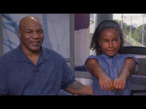 2018 US Open: Mike Tyson & Milan Tyson Visit Tennis Channel Set