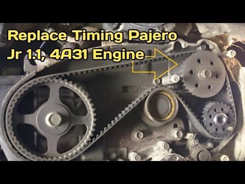 Фото к видео: How to Mitsubishi Mini Pajero Jr 1.1 4A31 Engine Timing Belt Replacement Urdu in Hindi
