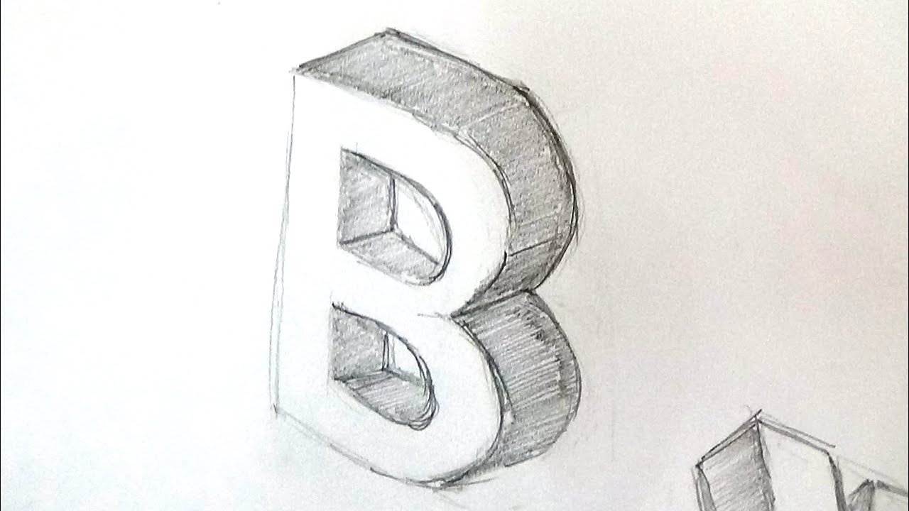 How to write a 3d letter b youtube how to write a 3d letter b expocarfo Gallery