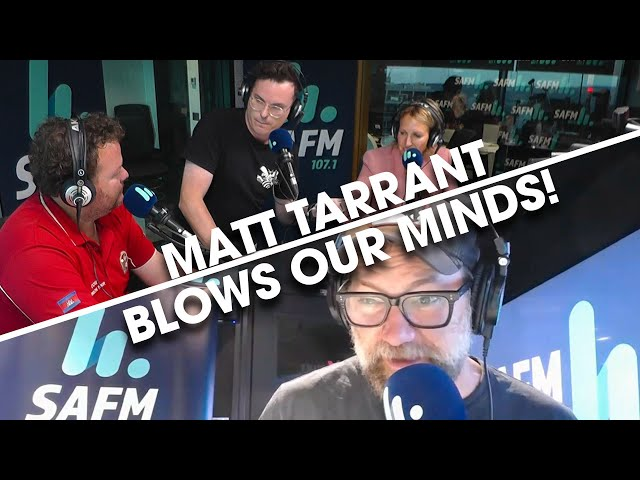 Matt Tarrant BLOWS OUR MINDS!   Bec Cosi & Lehmo