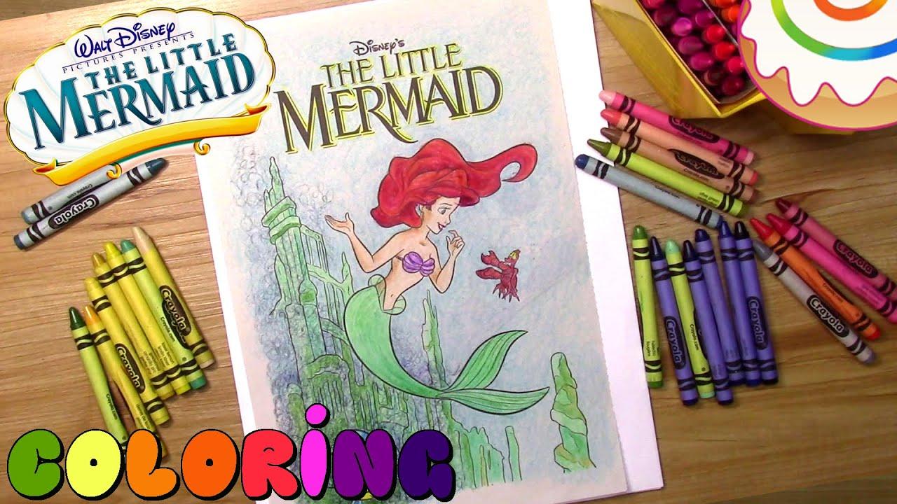 disney u0027s the little mermaid coloring page ariel youtube