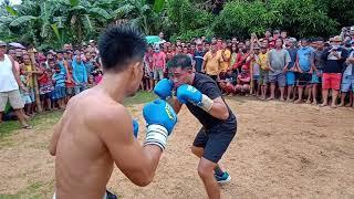 tatay nakialam sa laban ng anak boxing nag ka gulo pusta 40K recudo Vs masbate city
