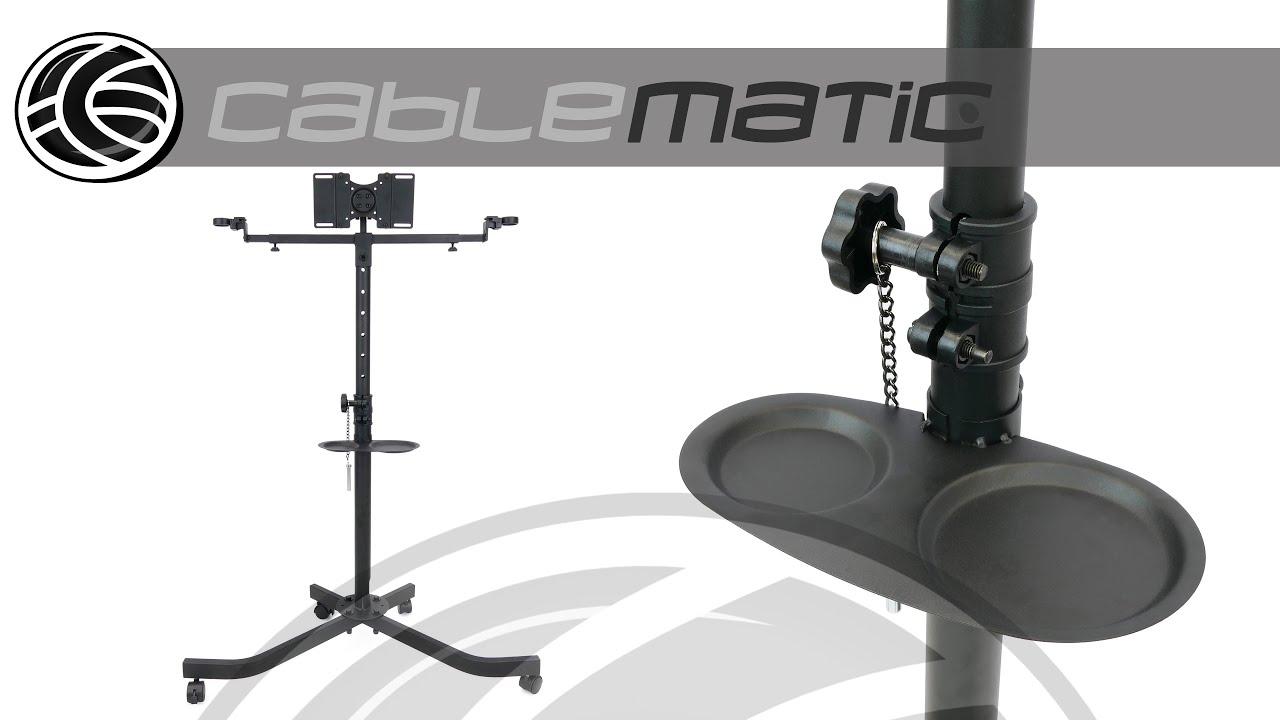 Soporte de pie con ruedas para pantalla plana tv de 10 32 distribuido por cablematic youtube - Soporte con ruedas para tv ...