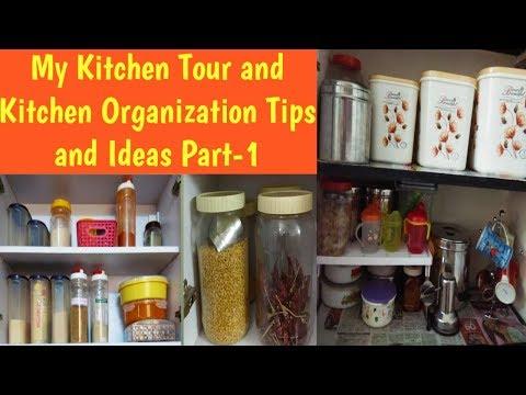 Kitchen Tour in Tamil/Indian kitchen tour/Kitchen Organization tips and ideas