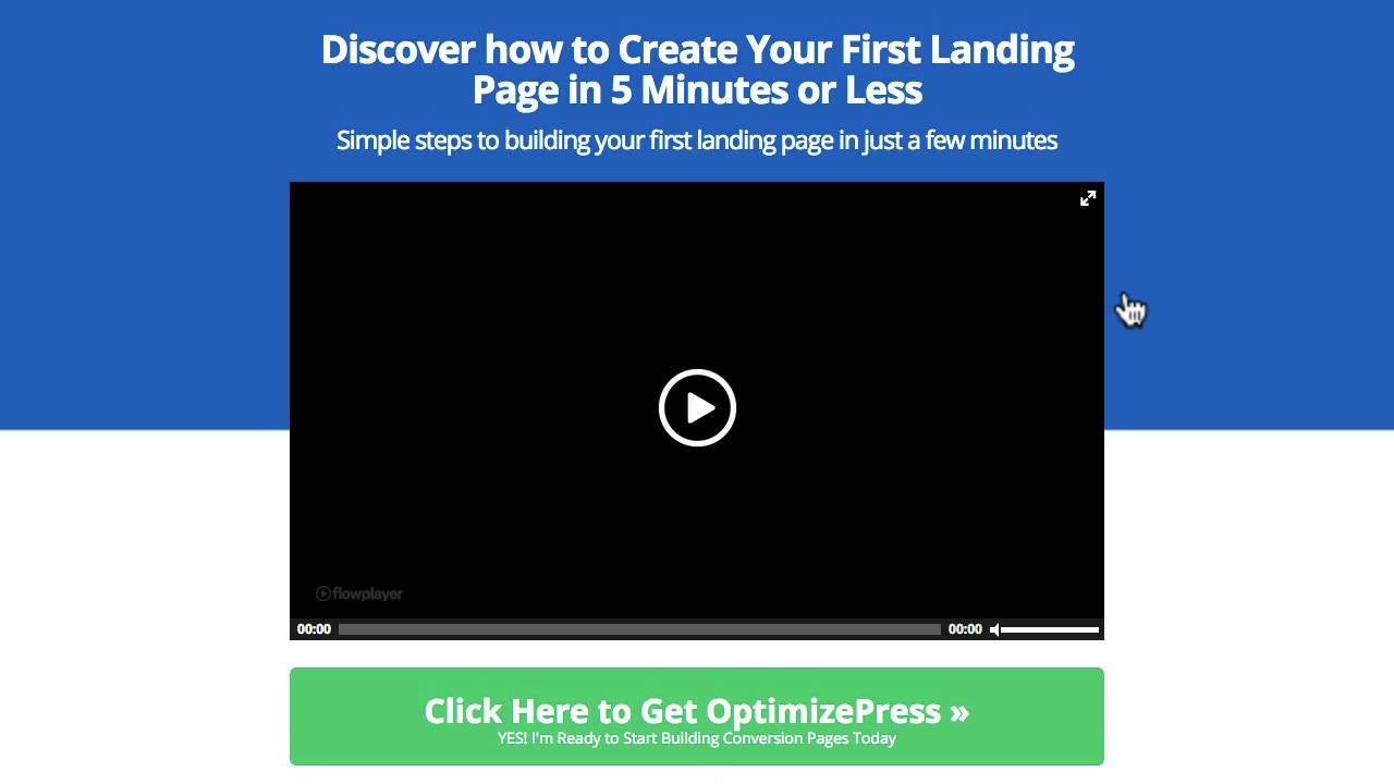 OptimizePress Video Content Sales Page Template YouTube - Sales landing page template