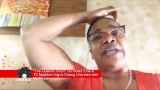 """""""The Queens Court"""" Co Hosts Khia & TS Madison Argue During Interview with Mo'Nique"""