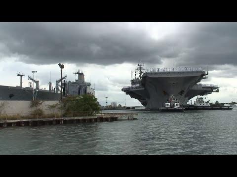 USS Kitty Hawk Arrives in Pearl Harbor