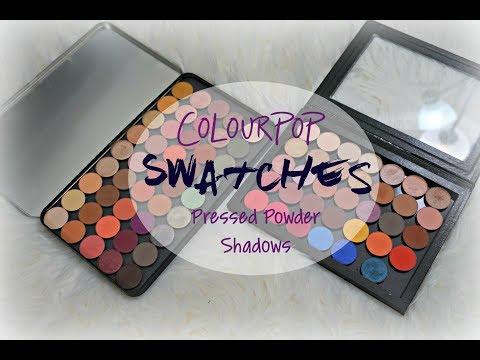 SWATCH FEST & REVIEW | ColourPop Pressed Powder Shadows ✩ 75+ SHADES ✩