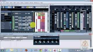 primeiro projeto.CUBASE 5- GRUP  CHANEL track - FX CHANEL track