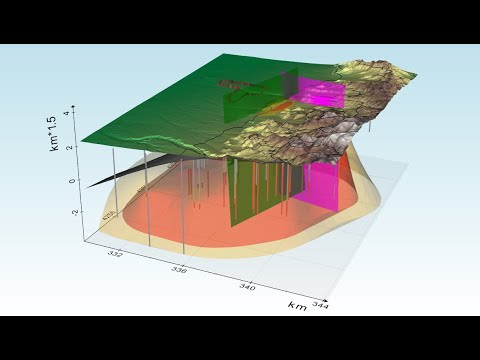 Tutorial: create an interactive 3D geological model in python using vedo (v3do)