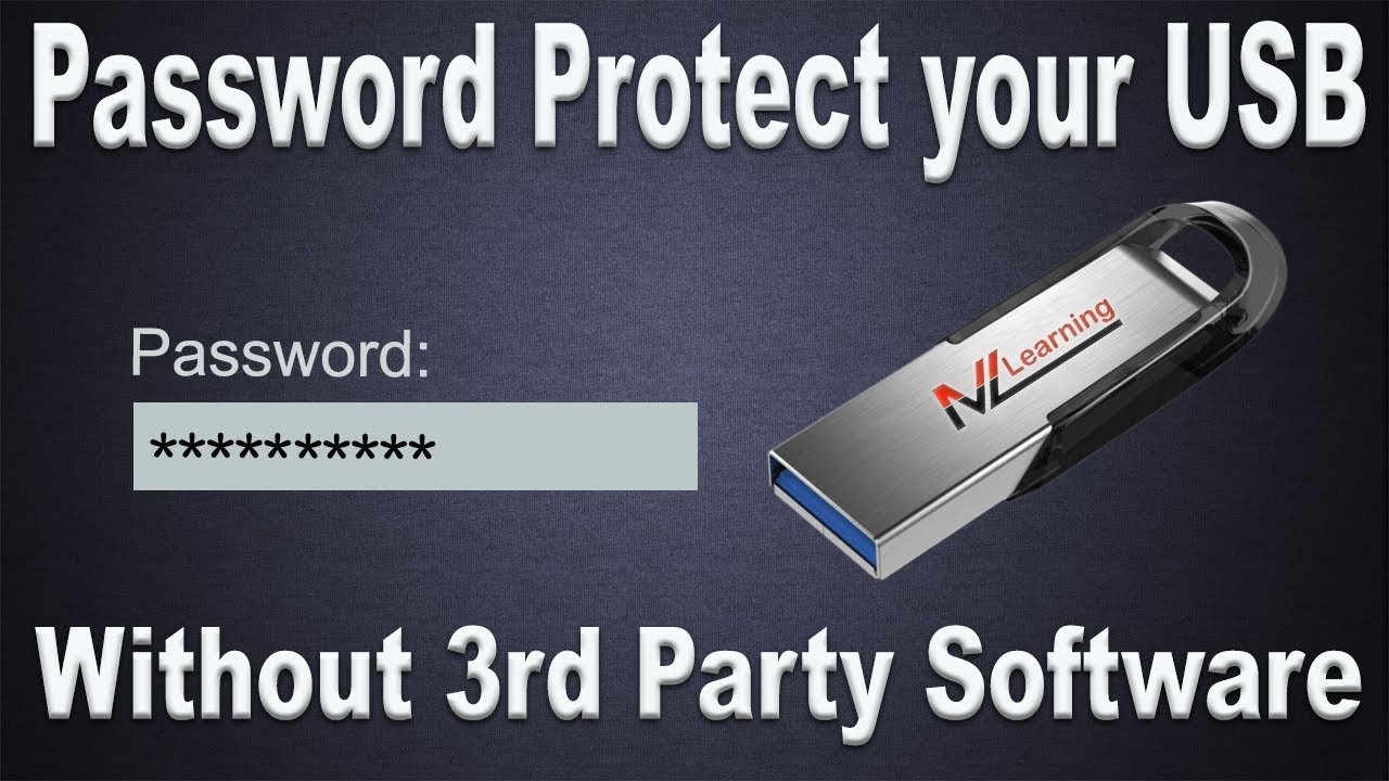 Password Protect your USB or External Hard drive without ...