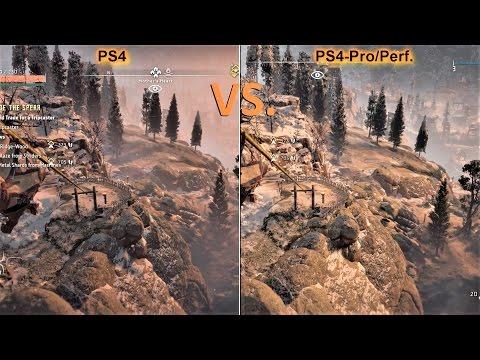 Horizon Zero Dawn | PS4 vs. PS4 Pro - Mod Resolution/Performace | Graphics Comparison | 4K