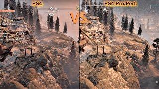 Horizon Zero Dawn | PS4 vs. PS4 Pro | Graphics Comparison | 4K Supersampling