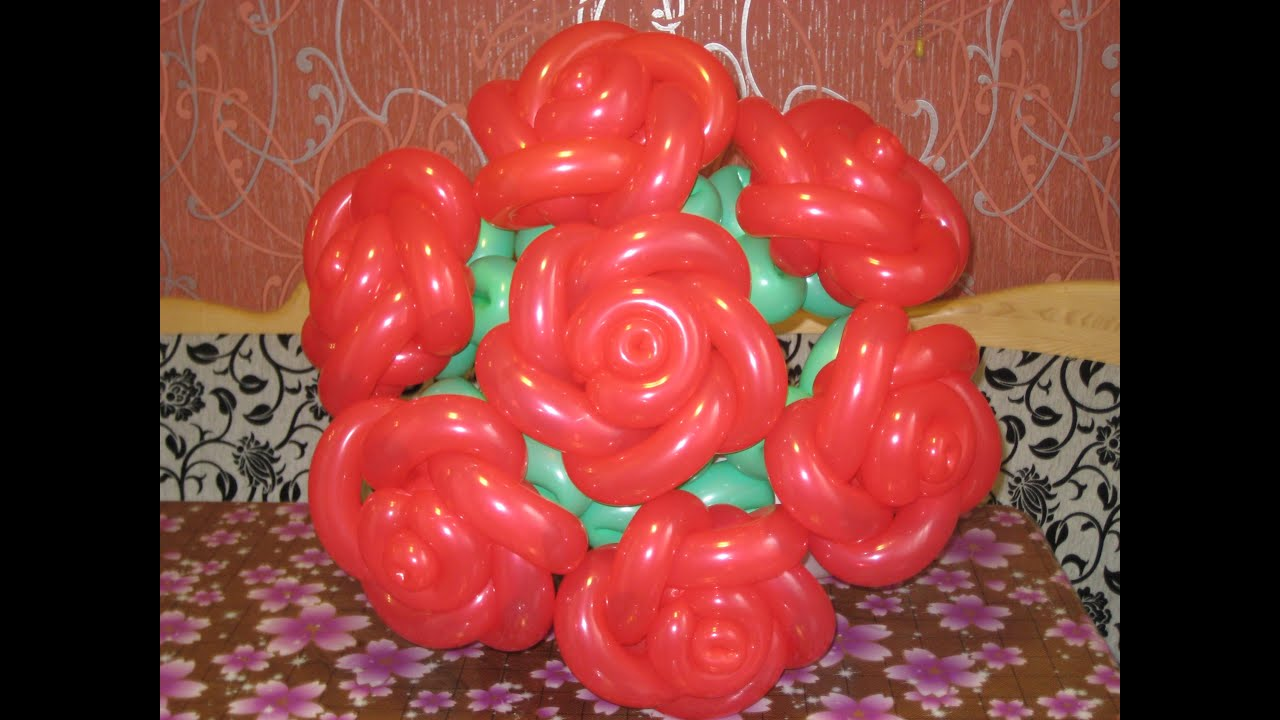 Розы из шаров как сделать