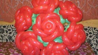 Роза из воздушных шаров (Rose from balloons)