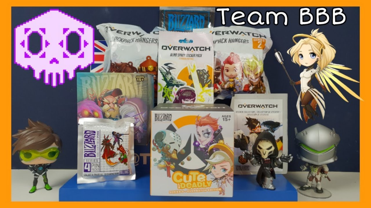 OVERWATCH UNBOXING SPECIAL! Cute but Deadly Mystery Pin Stickers Patches Back pack Hangers Gamer
