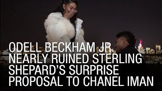 Odell Beckham Jr. Nearly Ruined Sterling Shepard's Surprise Proposal To Chanel Iman