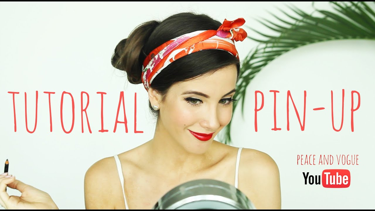 tutorial maquillaje pin up pin up makeup tutorial peace and vogue youtube. Black Bedroom Furniture Sets. Home Design Ideas