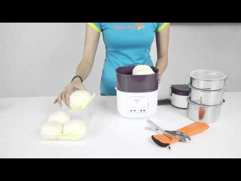 [Hướng Dẫn Sử Dụng] Hộp cơm điện 3 tầng Magic Korea A-06 - Cách hấp thực phảm
