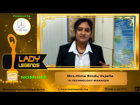 "TUTORS PRIDE's ""LADY LEGENDS ACCOLADES"" Mrs.Hima Bindu NOMINEE"