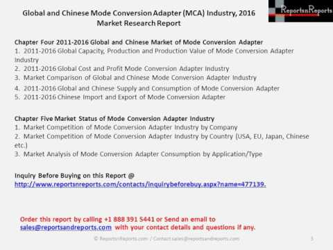 Mode Conversion Adapter Industry Key Companies Market Share Report in 2011-2016