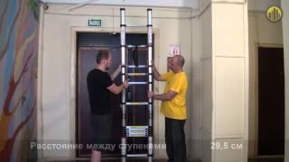 видео Стремянка 4 ступени алюминиевая: высота различных моделей