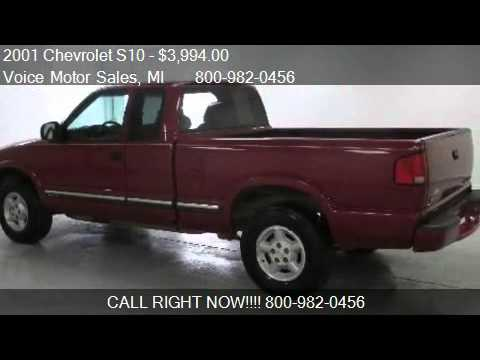 2001 chevrolet s10 ls 4x4 extended cab short box for sale for Voice motors kalkaska michigan