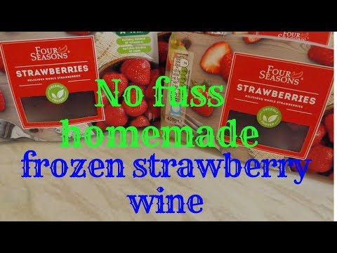 How to make homemade strawberry wine without yeast