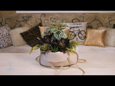 Succulents Displayed in a Handbag | Floristry Design Tutorial thumbnail