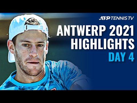 Murray Battles Schwartzman; Bautista Agut & Harris In Action   Antwerp 2021 Day 4 Highlights