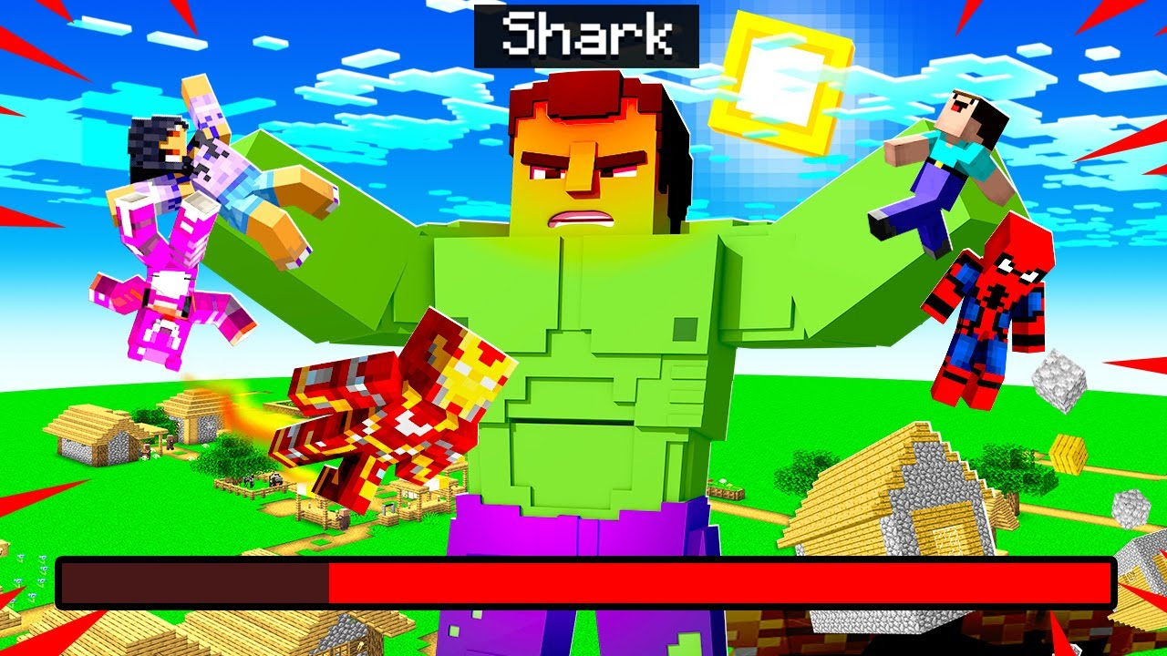 Playing As THE HULK In MINECRAFT! (POWERFUL)