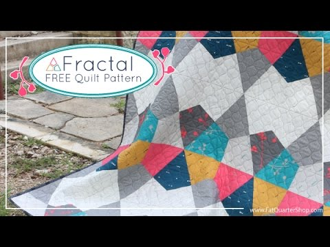 Fractal Free Quilt Pattern for Art Gallery Fabrics and Fat Quarter ... : art quilt patterns free - Adamdwight.com