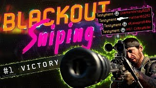 the CRAZIEST SNIPING in BLACKOUT - BO4 Battle Royale